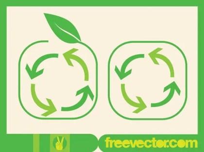 Recycling Arrows Symbol Free Vector