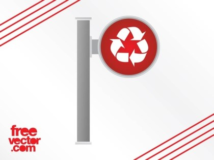 Recycling Sign Free Vector