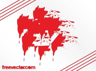 Red Grunge Free Vector
