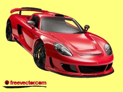 Red Porsche Carrera GT Free Vector