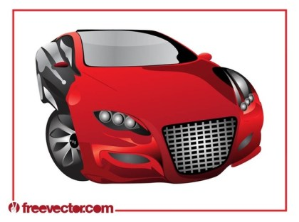 Red Sports Car Free Vector