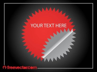 Red Sticker Template Free Vector