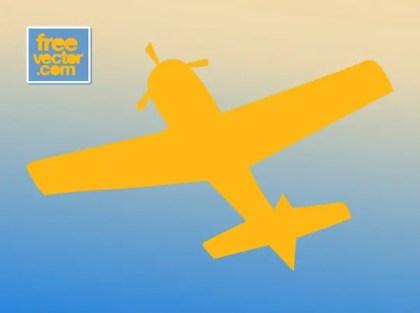 Retro Airplane Silhouette Free Vector