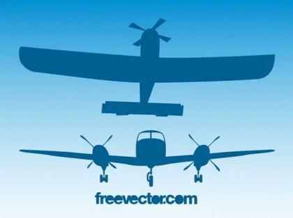 Retro Planes Free Vector