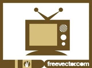 Retro TV Icon Free Vector
