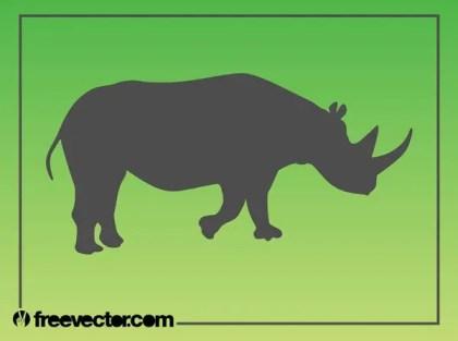 Rhinoceros Silhouette Free Vector