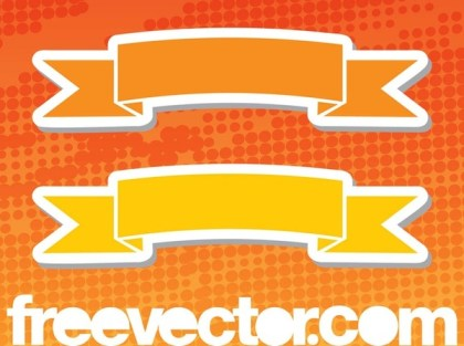 Ribbon Stickers Free Vector