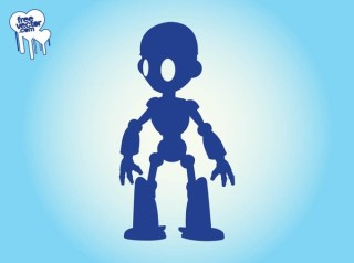 Robot Silhouette Free Vector