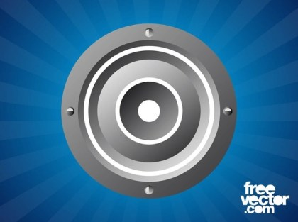 Round Speaker Free Vector