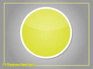 Round Sticker Free Vector