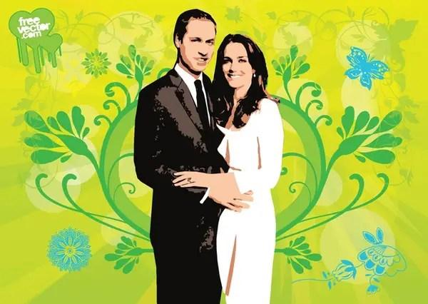 Royal Wedding Free Vector