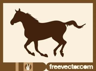 Running Horse Free Vector