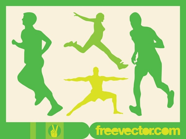 Running People Free Vector