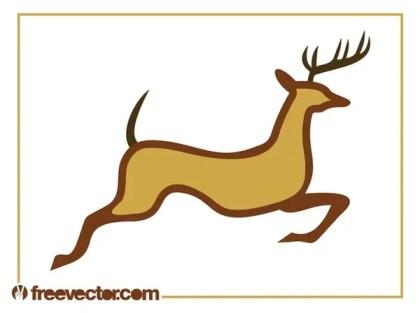 Running Reindeer Free Vector