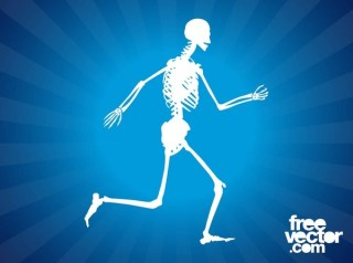 Running Skeleton Free Vector