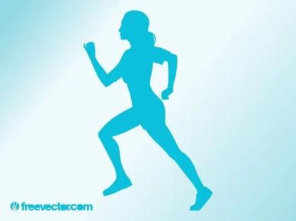 Running Woman Free Vector