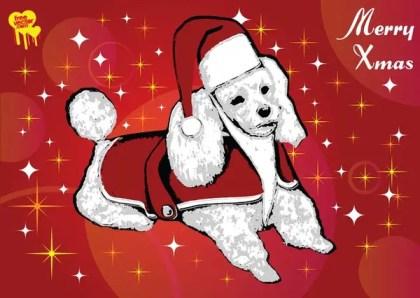 Santa Dog Free Vector