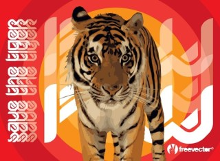 Save the Tiger Free Vector