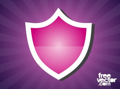 Shield Sticker Free Vector