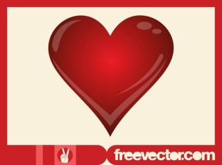 Shiny 3D Heart Free Vector