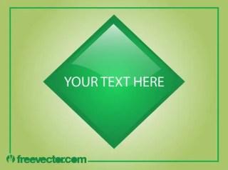 Shiny Green Button Free Vector