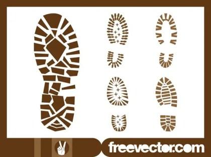 Shoe Print Free Vector