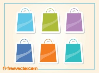 Shopping Bags Icons Free Vector