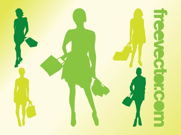 Shopping Girls s Free Vector