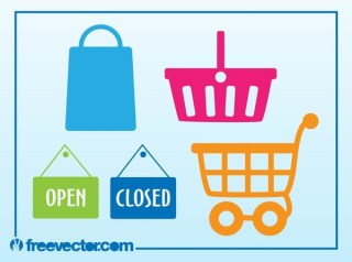 Shopping Icons Free Vector