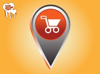 Shopping Pointer Icon Free Vector