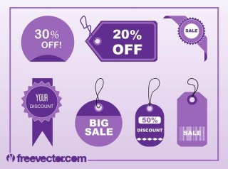 Shopping Tags s Free Vector