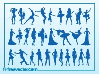 Silhouettes Free Vector