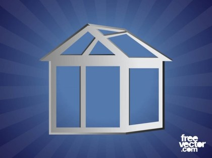 Silver House Outlines Free Vector