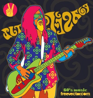 Sixties Music Free Vector