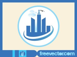 Skyscrapers Icon Free Vector