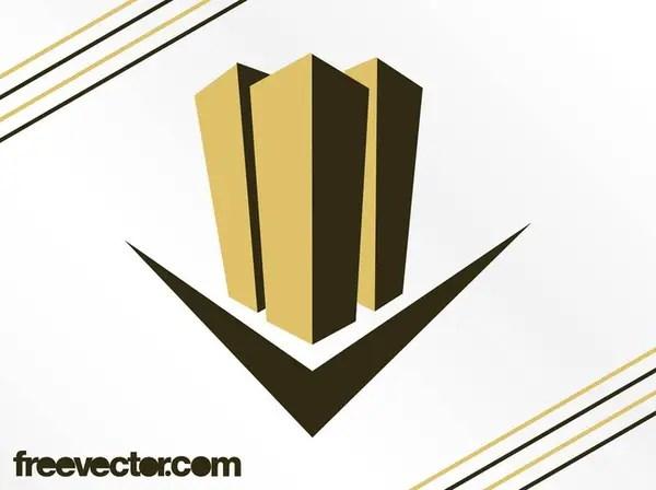 Skyscrapers Logo Design Free Vector