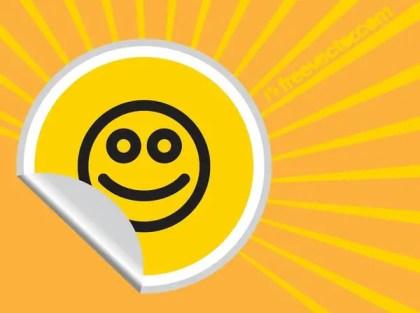 Smiley Sticker Free Vector