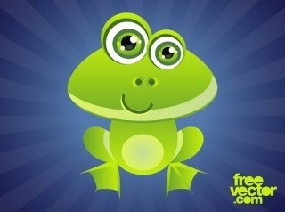 Smiling Cartoon Frog Free Vector