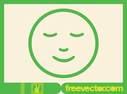 Smiling Emoticon Free Vector