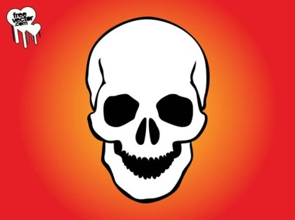Smiling Skull Free Vector