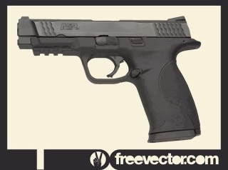 Smith and Wesson Police Gun Free Vector