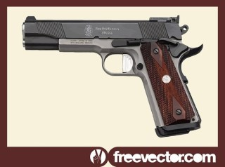 Smith Wesson Pistol Free Vector