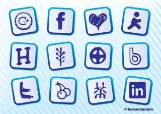 Social Media Pack Free Vector