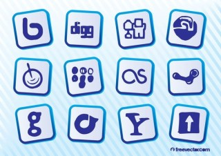 Social Media Sites Free Vector