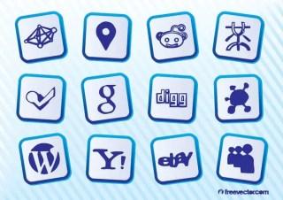 Social Web Logo Free Vector