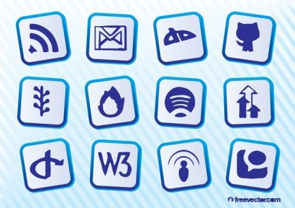 Social Website s Free Vector