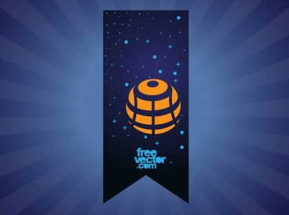 Space Banner Free Vector
