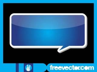 Speech Balloon Sticker Free Vector