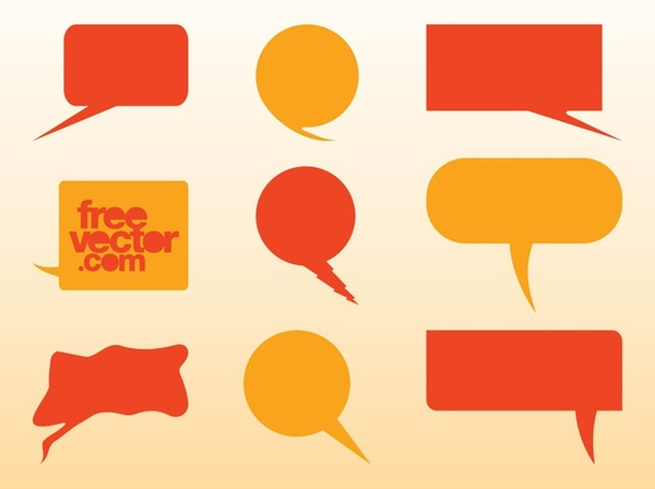 Speech Balloons Free Vector