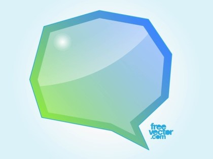 Speech Bubble Illustration Free Vector